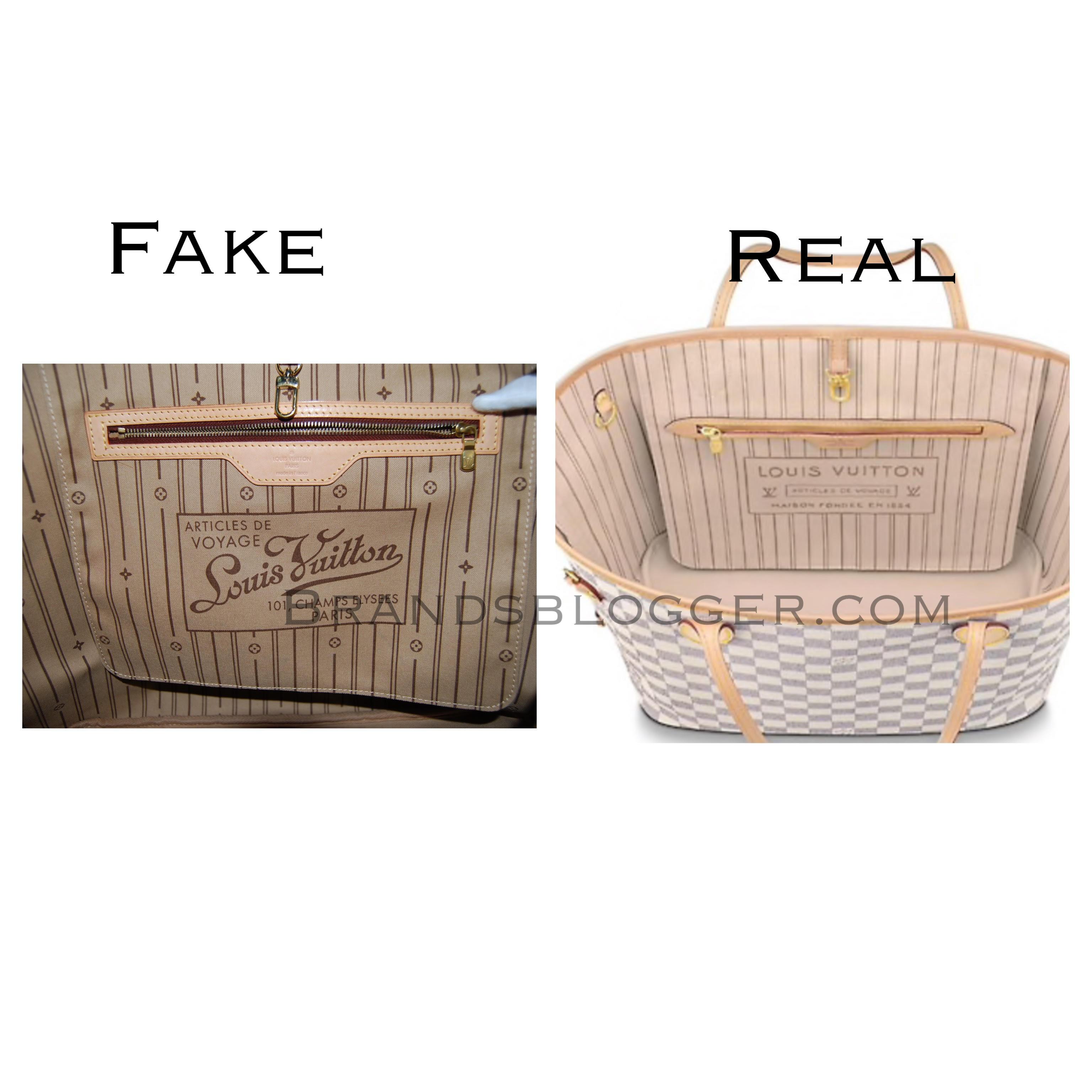 How To Spot A Fake Louis Vuitton Neverfull Bag Brands Blogger
