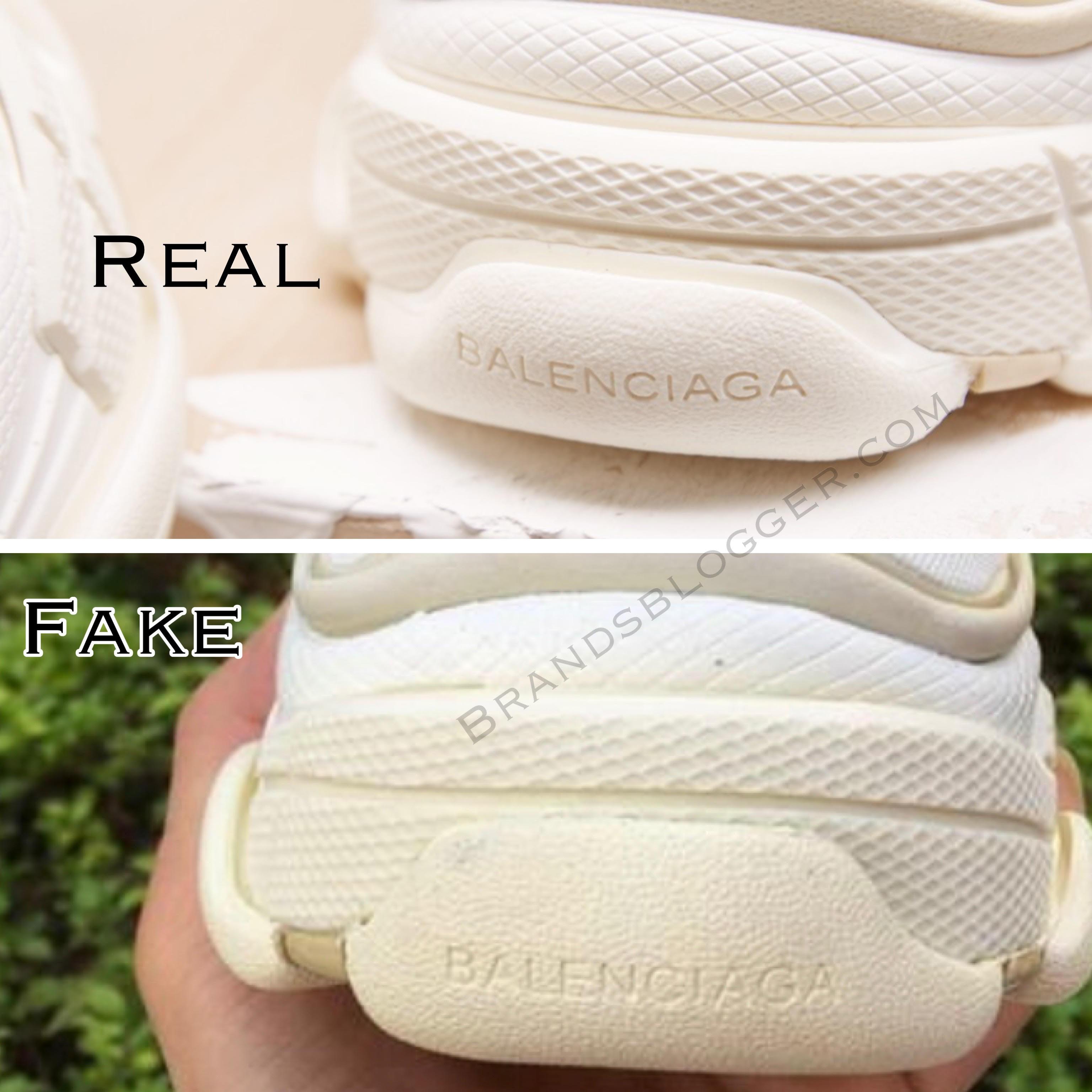 How To Spot Fake Balenciaga Triple S Sneakers Brands Blogger