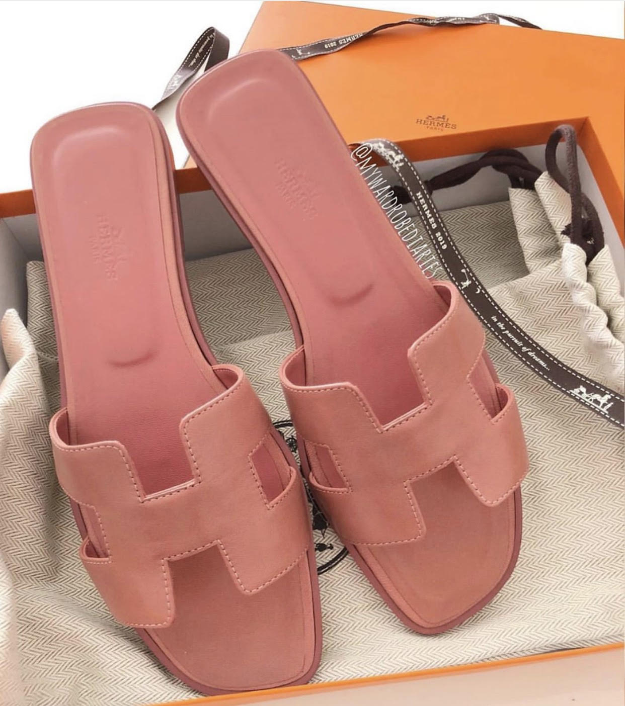original hermes slippers