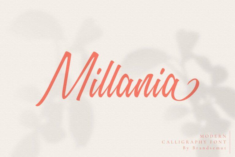 Millania || Modern Script Font