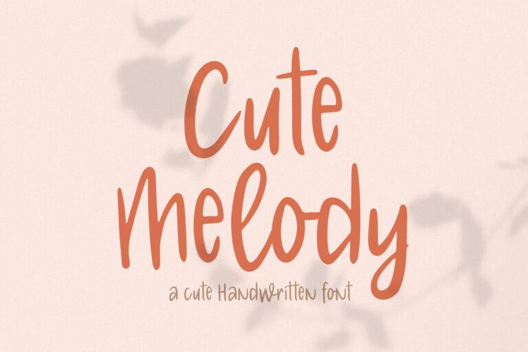 Cute Melody // Cute Handwritten Font