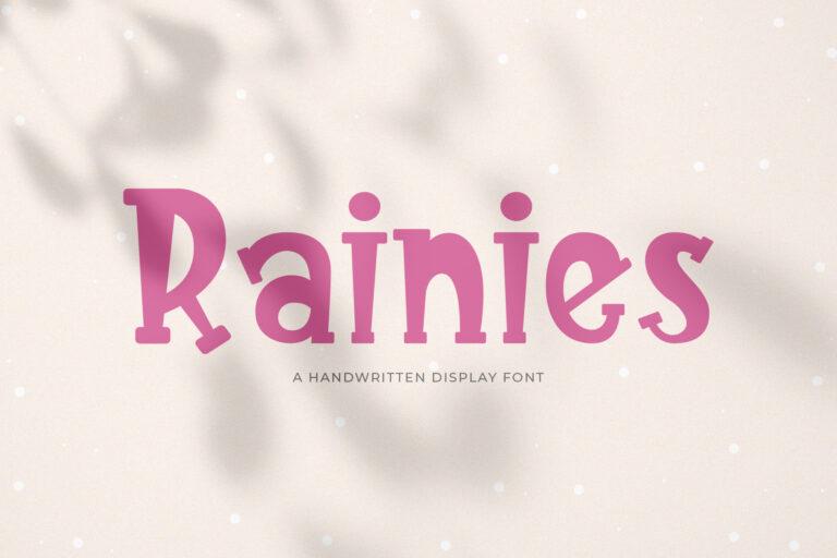 Rainies || A Handwritten Font