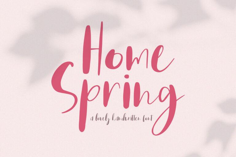 Home Spring // Handwritten Font