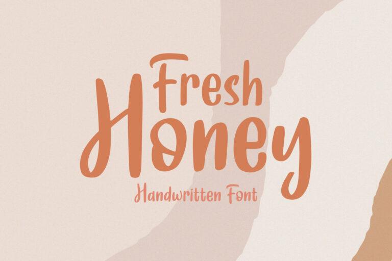 Fresh Honey || Handwritten Font