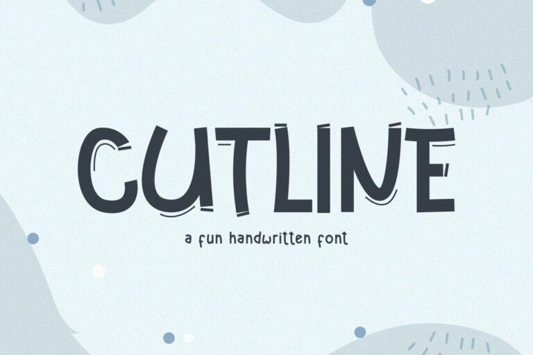 Cutline // A Fun Handwritten Font