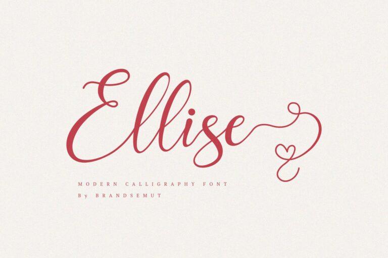 Preview image of Ellise – Lovely Script Font