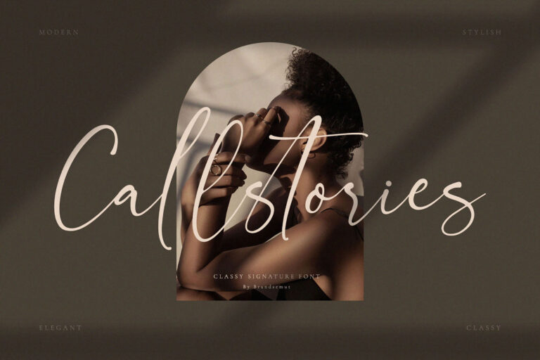 Preview image of Callstories // Classy Signature Font