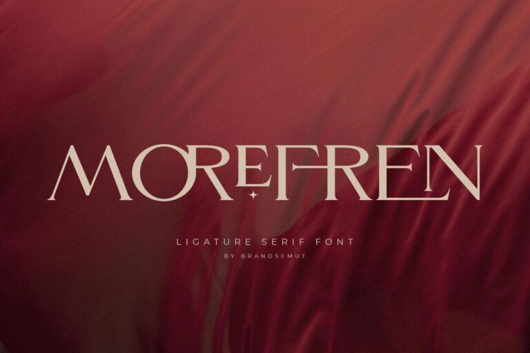Preview image of Morefren – Serif Ligature Font