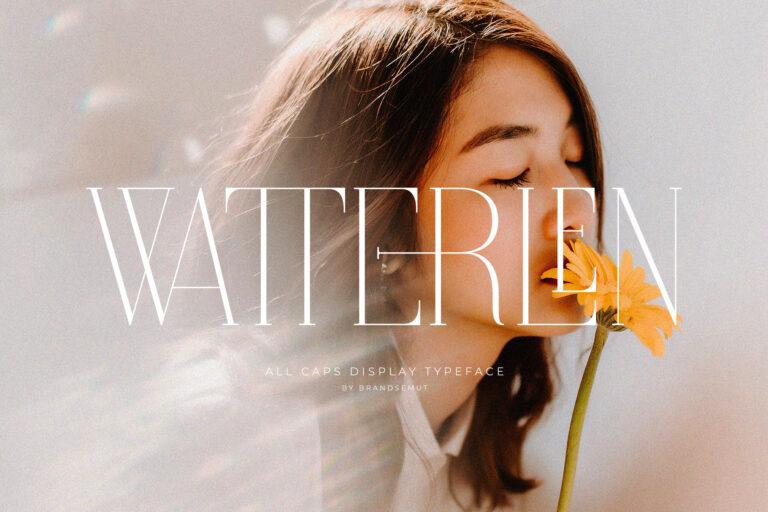 Watterlen - All Caps Ligature Serif