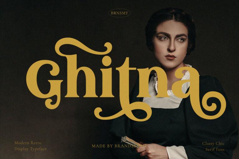 Ghitna - Retro Serif Font