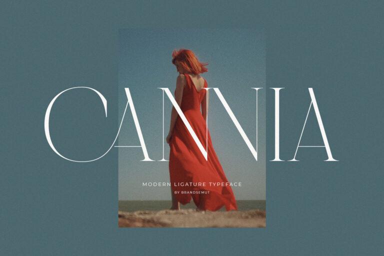 Cannia - Ligature Typeface