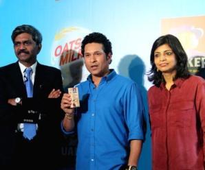 Milk and Pepsi together along with Sachin Tendulkar