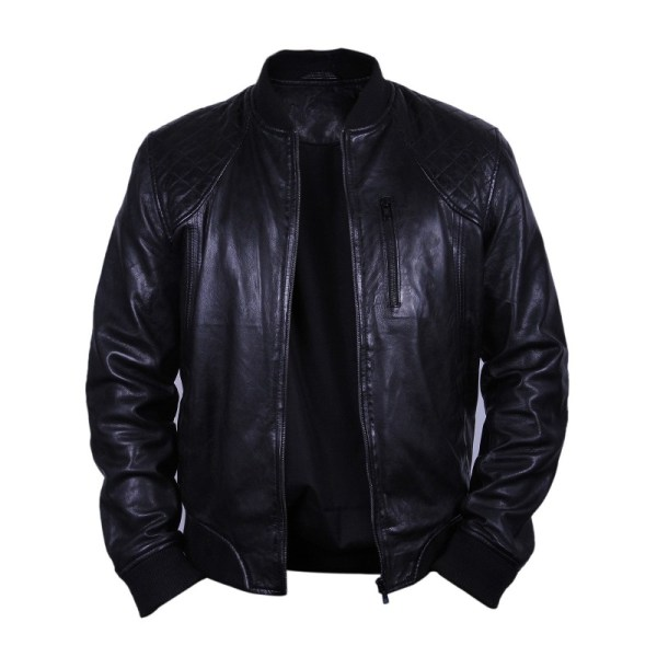 8b0ee0d0e Chaps Leather Bomber Jacket - Keep Shopping Online