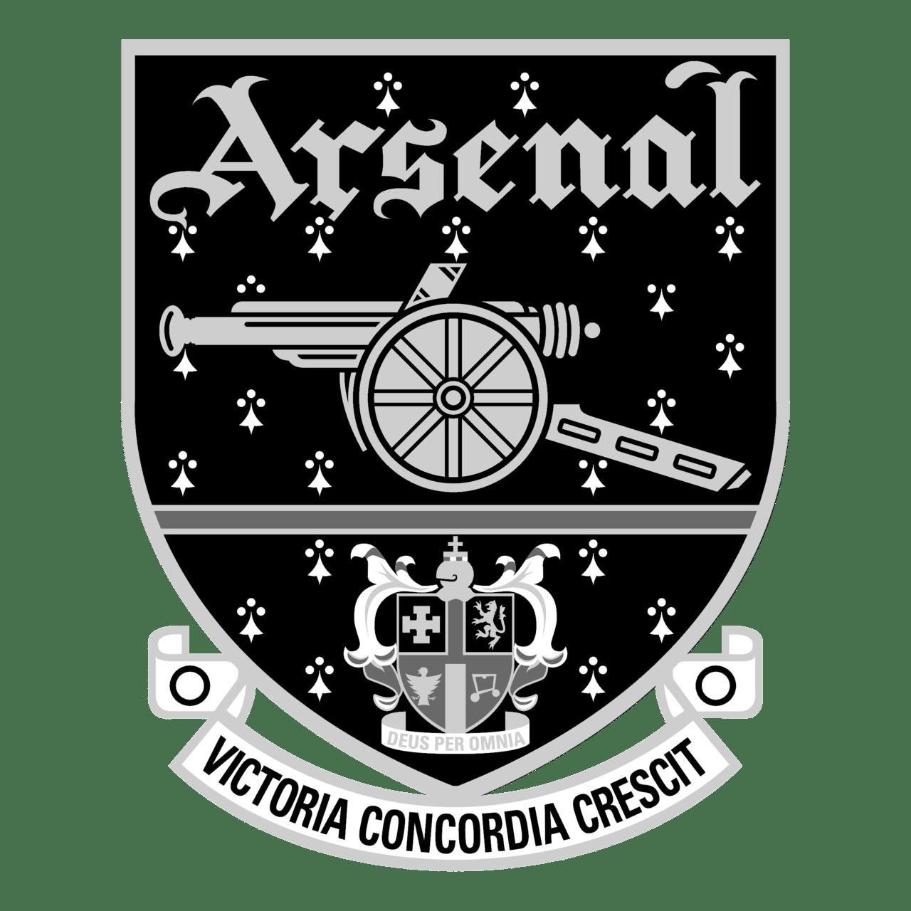 arsenal logo black and white 2