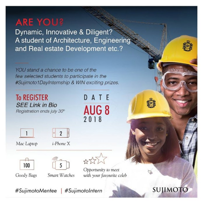 WIN a Brand New Laptop, 3 iPhone X and 5 Luxury Smart Watches in Sujimoto 1 Day Internship Event!!! - Brand Spur