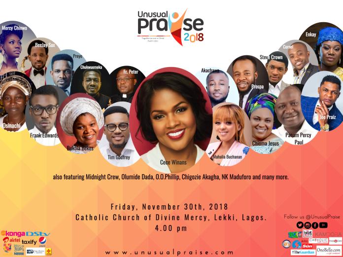 COUNTDOWN BEGINS FOR NIGERIA'S BIGGEST PRAISE CONCERT - UNUSUAL PRAISE 2018 - Brand Spur