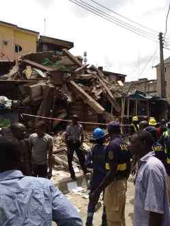 A THREE STOREY BUILDING COLLAPSES IN LAGOS BRAND SPUR NIGERIA 2