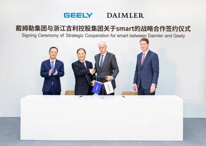 Daimler and Geely Holding form global joint venture to develop smart - Brand Spur