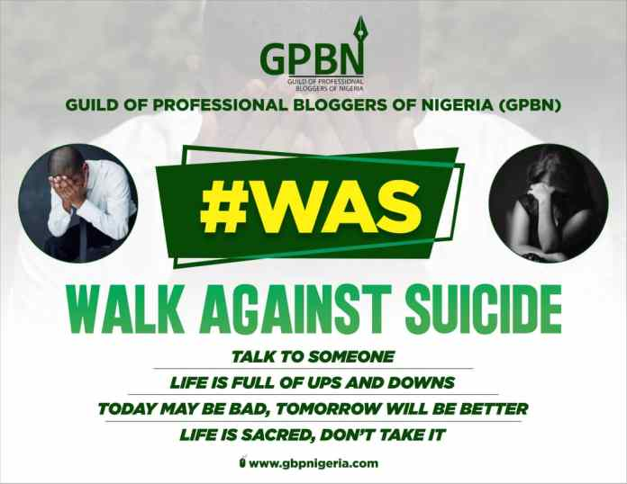 GPBN SETS TO EMBARK ON #WAS (WALK AGAINST SUICIDE) - Brand Spur