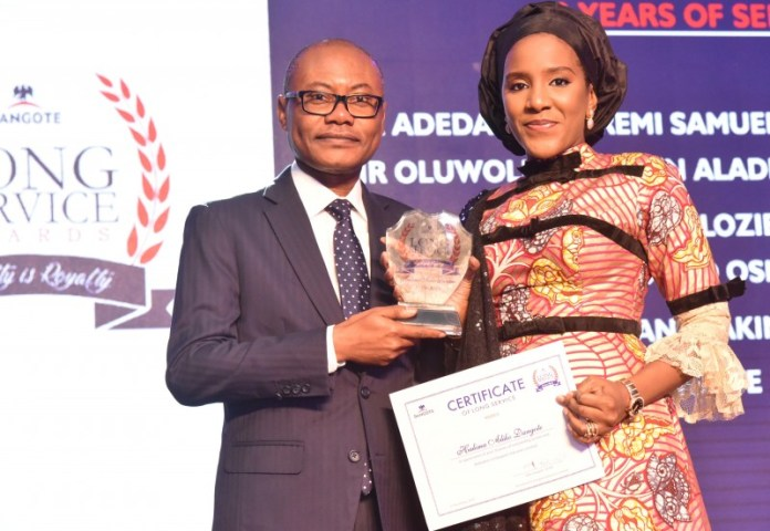 Dangote Honors 160 Staff At Long Service Award Ceremony (Photos) - Brand Spur