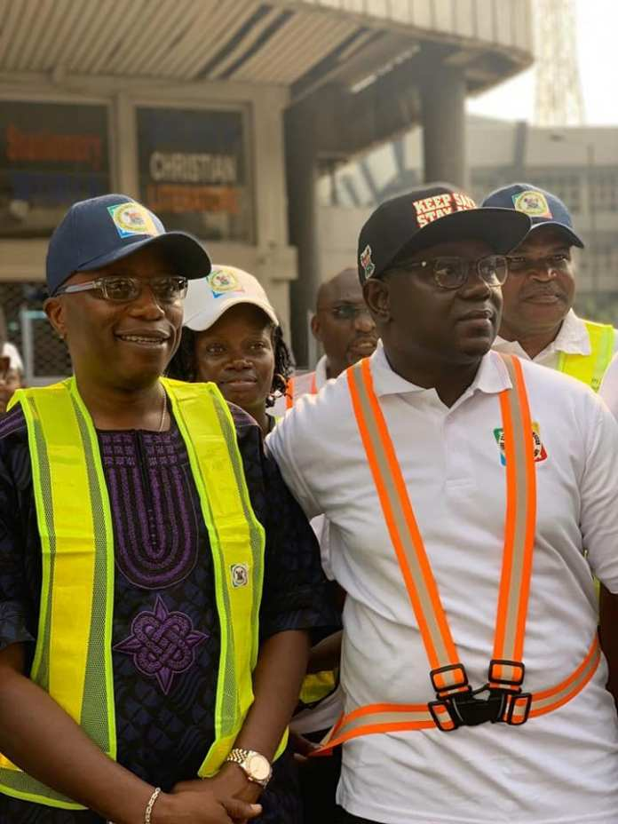 Lagos State Safety Commission sensitizes Lagos Island Residents, seals Defective Building (Photos) - Brand Spur