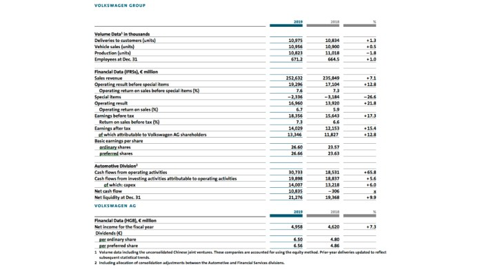 Volkswagen Group With Positive Business Performance In 2019 - Brand Spur
