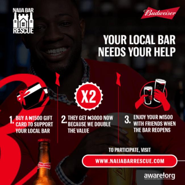 Budweiser Launches 'Naija Bar Rescue' To Support Bars Through Covid-19 Lockdown - Brand Spur