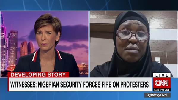 Prominent Nigerian activist 'horrified' by violent crackdown on protesters BRANDSPURNG