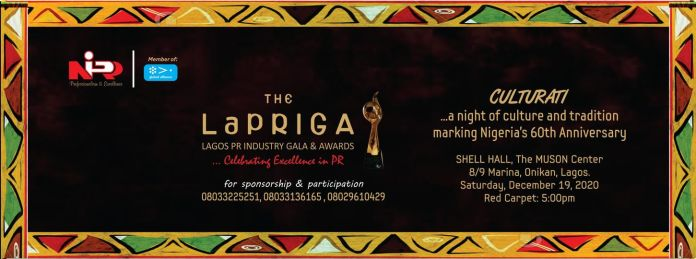 LaPRIGA: Fifth Lagos PR Industry Gala & Awards Holds December 19
