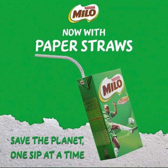 MILO switches to paper straws to protect the environment