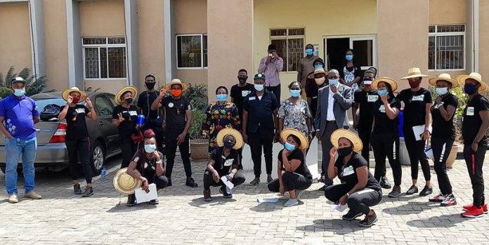 Maiden Naija Farmer Reality TV show on a learning visit to IITA Abuja Brandspurng