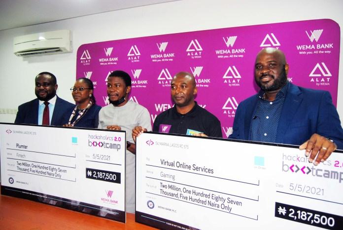Wema Bank Unveils 'Hackaholic 2.0 Bootcamp Winners-Brand Spur Nigeria