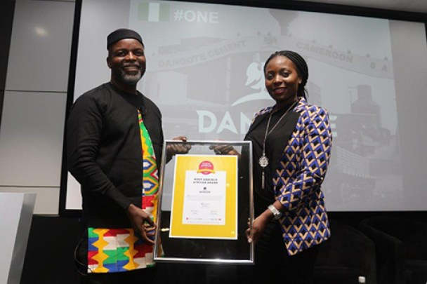 Thebe Ikalafeng and Maki Mopai, Dangote, Most Admired Africa Brand-Brand Spur Nigeria
