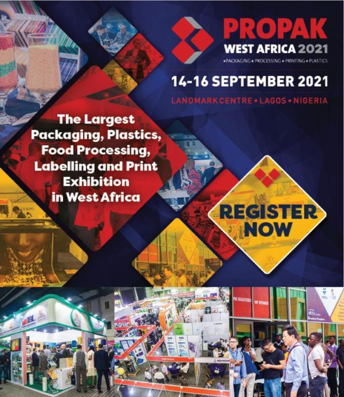 Biggest Packaging, Plastics, Print And Labeling Exhibition In W'Africa To Hold September-Brand Spur Nigeria