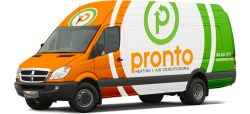 pronto brand graphics on vehicle