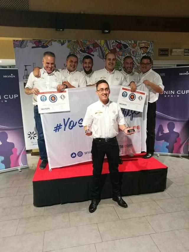Emilio Rodriguez gana el Primer premio de la copa Monin (sin alcohol)