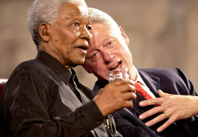 Nelson Mandela and former America President, Bill Clinton