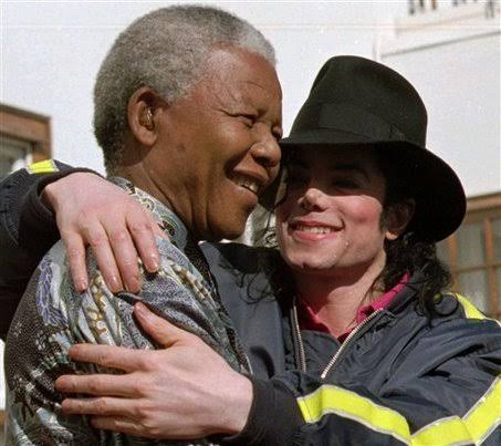 Nelson Mandel and Pop legend, Michael Jackson