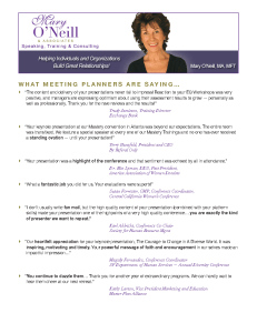 MON What Meeting Planners Are Saying