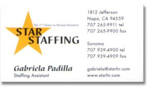 Logo Design and Business Card for Star Staffing