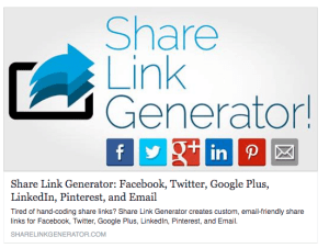 Share Link Generator on Facebook