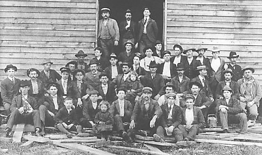 Early employees of Bassett Furniture Company, Bassett, Virginia, circa 1900. Author Unknown. Public domain, via Wikimedia Commons.