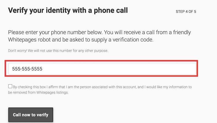 phonecall verification