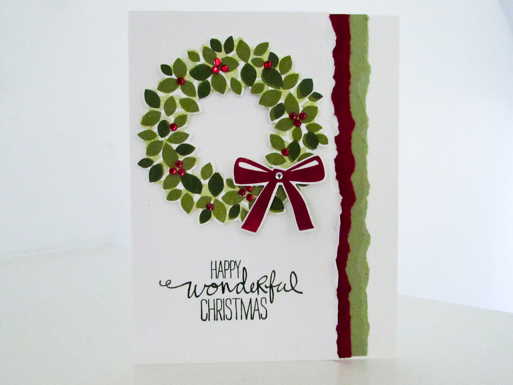 Stampin Up Wonderous Wreath Video Tutorial Post By