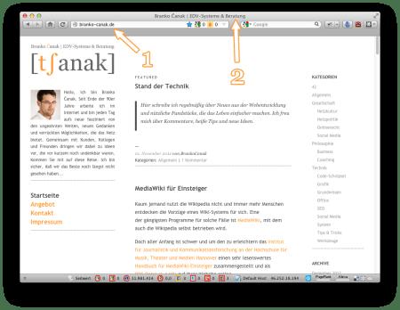 """Screenshot Serie """"Internet - Ich habe keinen Browser!"""" (Branko Čanak)"""