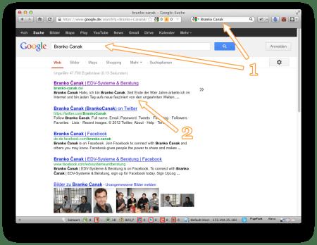 """Screenshot Serie """"Internet - Ich habe keinen Browser"""" (Google Suche)"""
