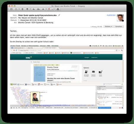Screenshot XING Overlay Hack