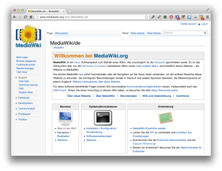 Screenshot MediaWiki