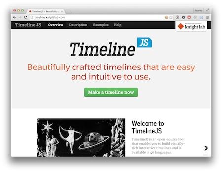 Screenshot Timeline JS