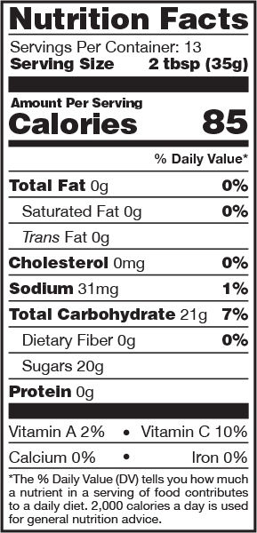 Spicy Cranberry BBQ Sauce Nutrition Facts